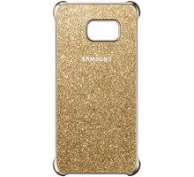 Samsung zadní kryt Glitter pro Samsung Galaxy S6 Edge+, zlatá - EF-XG928CFEGWW