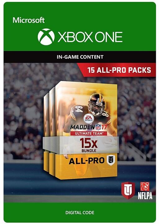 Madden NFL 17 - 15 All-Pro Packs (Xbox ONE) - elektronicky