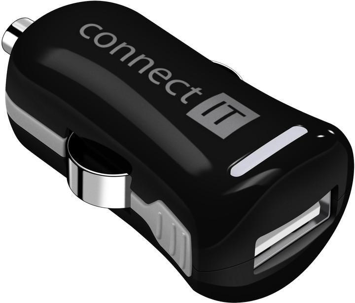 CONNECT IT InCarz COLORZ auto adaptér 1xUSB 2,1A,černá (V2)