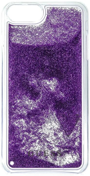 Guess Liquid Glitter Hard Triange Purple pouzdro pro iPhone 7 Plus