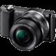 Sony Alpha 5000, černá + objektiv 16-50mm