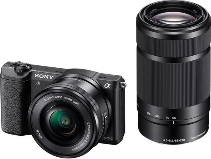 Sony Aplha 5100Y, 16-50 + 55-210mm, černá