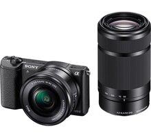 Sony Aplha 5100Y, 16-50 + 55-210mm, černá - ILCE5100YB.CEC + Přenosný zdroj Sony CP-ELS v ceně 500 Kč