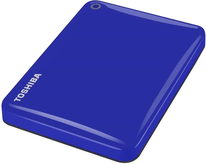 Toshiba Canvio Connect II - 1TB, modrá