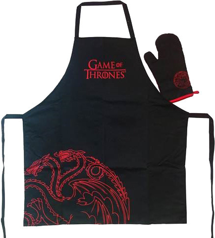 Game of Thrones - Targaryen - zástěra a chňapka
