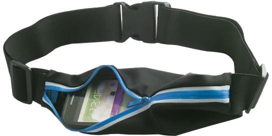 Forever pouzdro typu ledvinka, látkové s reflexními prvky - černo-modré