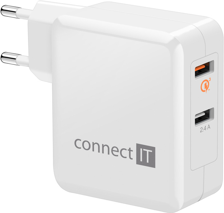 CONNECT IT QUICK CHARGE 3.0, QC 3.0, bílý