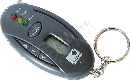Evolve Elektronický alkohol tester, přívěšek na klíče