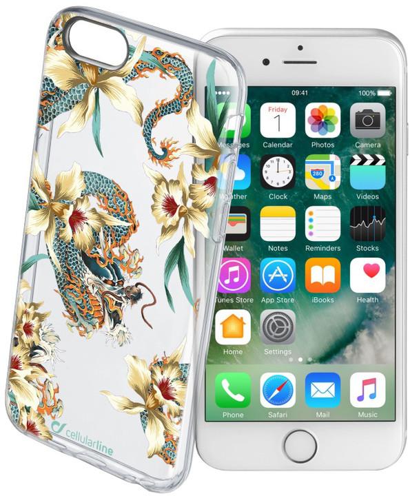 Cellularline STYLE průhledné gelové pouzdro pro iPhone 7, motiv DRAGONS