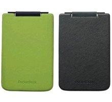 Pocketbook pouzdro pro 624/626, Flipper, černozelená - PBPUC-624-GRBC-RD