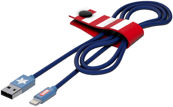 Tribe Marvel Captain America Micro USB kabel (120cm) - Modrý