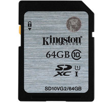 Kingston SDXC 64GB Class 10 UHS-I - SD10VG2/64GB