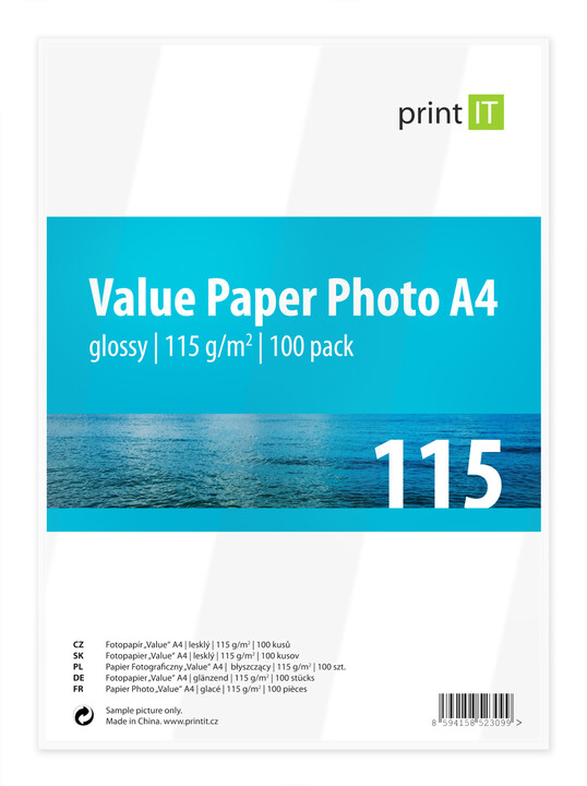 PRINT IT Value Paper Photo A4 115 g/m2 Glossy 100ks