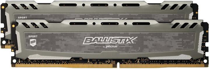 Crucial Ballistix Sport LT Grey 16GB (2x8GB) DDR4 2400