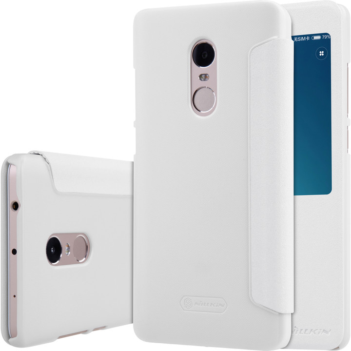Nillkin Sparkle Leather Case pro Xiaomi Redmi Note 4, bílá