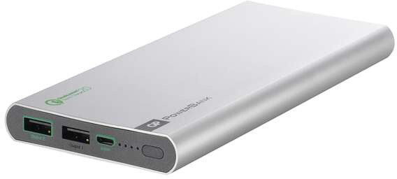 GP powerbank 10.000 mAh - Quick Charge 2.0 stříbrná