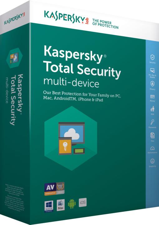 Kaspersky Total Security multi-device 2017 CZ pro 1 zařízení na 24 měsíců, obnovení licence