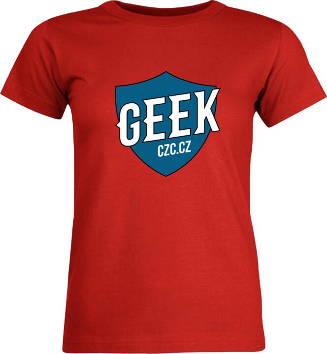Bonus tričko GEEK dámské - modrá, S