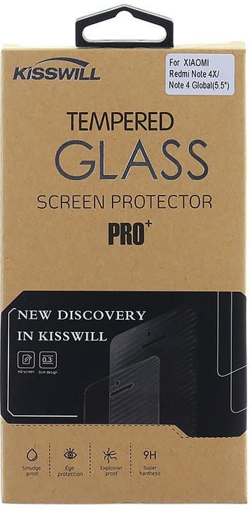 Kisswill Tvrzené sklo 0.3 mm pro Xiaomi Redmi Note 4 Global