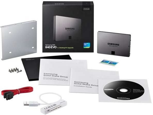 Samsung SSD 840 EVO - 120GB, Desktop Kit