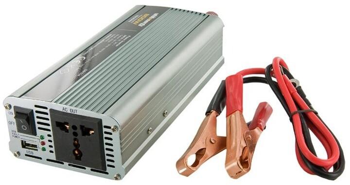 Whitenergy měnič napětí AC/DC, 12V/230V, 800W