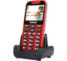 Evolveo EasyPhone XD s nabíjecím stojánkem, červená - EP-600-XDR