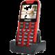 Evolveo EasyPhone XD s nabíjecím stojánkem, červená