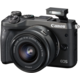 Canon EOS M6 + EF-M 15-45mm IS STM + EF-M 55-200mm IS STM, černá