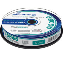 MediaRange DVD+R 8,5GB DL 8x, Printable, 10ks Spindle - MR468