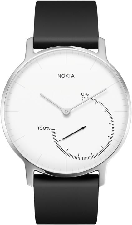 Nokia chytré hodinky Activité Steel - černá/bílá