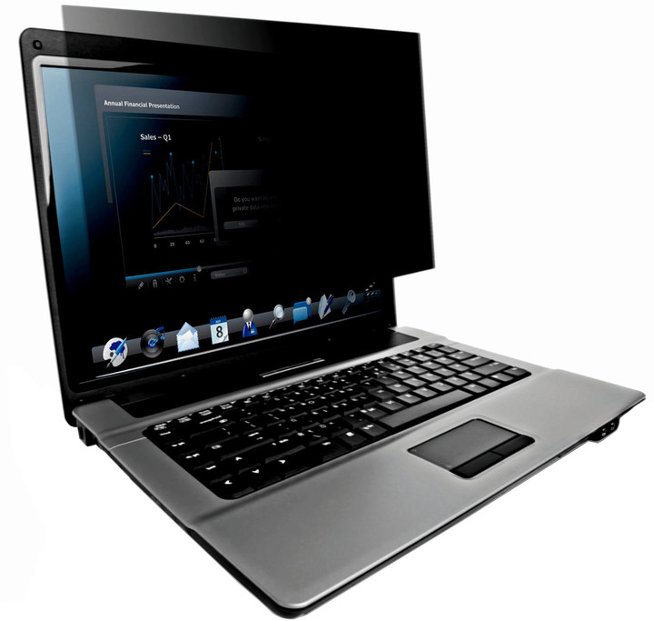 3M Černý bezpečnostní filtr na notebook 15.6'' widescreen (PF15.6W)