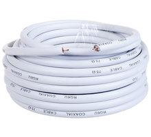 AQ KVX100, anténní koax kabel průměr 6,8mm, 75 ohm, bez konektorů, 10m - xkvx100