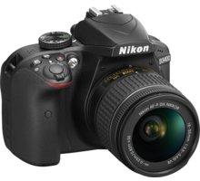 Nikon D3400 + AF-P 18-55 VR, černá - VBA490K001 + Nikon CF-EU11 systémová brašna v ceně 590 Kč