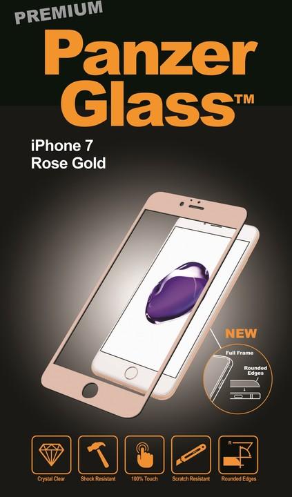 PanzerGlass ochranné sklo PREMIUM na displej pro Apple iPhone 7, rosegold