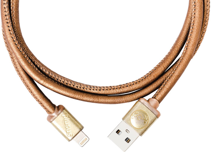 PlusUs LifeStar Premium Handcrafted USB Charge & Sync cable (1m) Lightning - Antique /Yellow