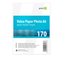 PRINT IT Value Paper Photo A6 170 g/m2 Glossy 20ks - PI-98