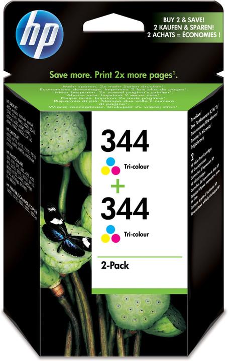 HP C9505EE no.344, 2 pack, barevná – ušetřete až 20 % oproti standardní náplni