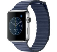 Apple Watch 2 42mm Stainless Steel Case with Midnight Blue Leather Loop - M - MNPW2CN/A