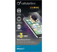 Cellularline TETRA FORCE GLASS prémiové ochranné tvrzené sklo pro Apple iPhone 7 - TETRAGLASSIPH747