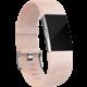 Fitbit Charge 2 Accessory Band kožený L, růžová