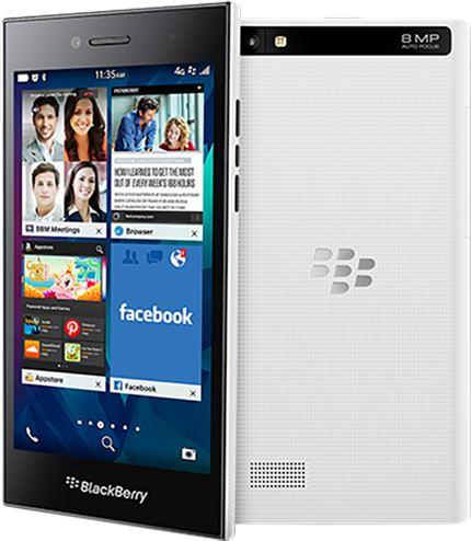 BlackBerry Leap, bílá
