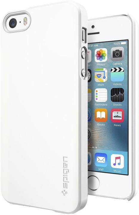 Spigen Thin Fitshimmery kryt pro iPhone SE/5s/5, bílá