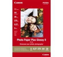 Canon Foto papír Plus Glossy II PP-201, A4, 20 ks, 275g/m2, lesklý - 2311B019