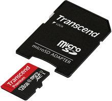 Transcend Micro SDXC Premium 400x 60MB/s UHS-I + SD adaptér - TS128GUSDU1