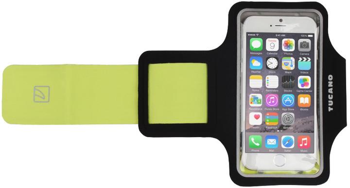 """TUCANO Armband ultratenké sportovní pouzdro pro telefony do velikosti 5"""", černé"""