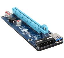 Kolink PCI-E 1x z 16x powered Riser Card Mining/Rendering-Kit - 60cm - ZURC-006