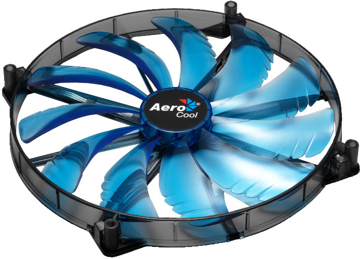 AeroCool Silent Master, 200 mm, modrá