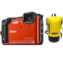 Nikon Coolpix W300, oranžová - Holiday kit - VQA071K001