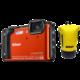 Nikon Coolpix W300, oranžová - Holiday kit