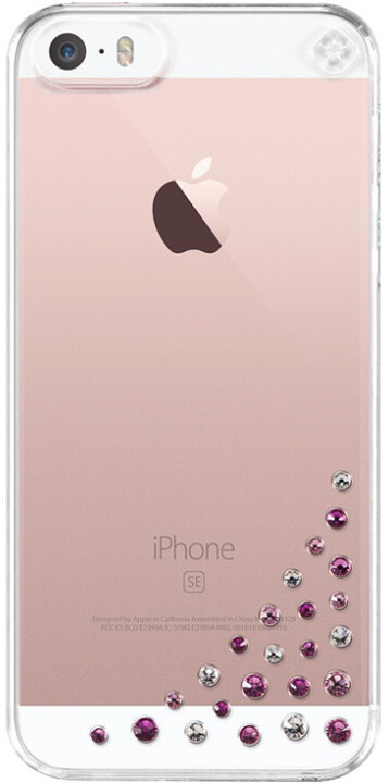 Bling My Thing Diffusion Pink Mix kryt pro Apple iPhone 5/5S/SE, MADE WITH SWAROVSKI® ELEMENTS